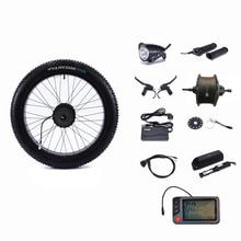 """عجلة بدفع خلفي 48 فولت 500 واط موتور عجلة تحكم دهن ثلج دراجة 48 فولت 13AH بطارية ليثيوم مجموعة تحويل الدراجة العاديّة إلى كهربائيّة 26 """"4.0"""