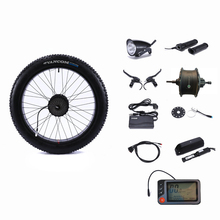 """אחורי כונן 48V 500W מנוע גלגל בקר שומן שלג אופני 48V 13AH ליתיום סוללה אופניים חשמליים המרה ערכת 26 """"4.0"""