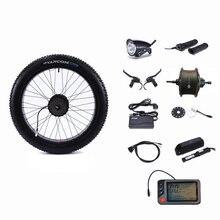 "Rear Drive 48V 500W Motor Wheel Controller Vet Sneeuw Bike 48V 13AH Lithium Batterij Elektrische Fiets Conversie kit 26 ""4.0"