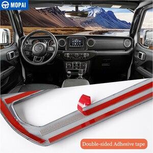 Image 4 - MOPAI Adesivi Per Auto per Jeep Gladiatore JT 2018 + Decorazione di Interni Auto Kit di Copertura Accessori per Jeep Wrangler JL 2018 2019 +