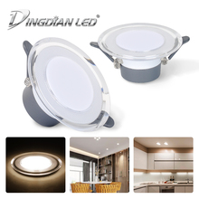 LED Downlight Spot 7W Round Recessed Lamp AC85-265V Ceiling Bedroom Kitchen Indoor Lighting Warm White Cold