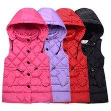 어린이를위한 조끼 소녀 가을 겨울 소녀 캐주얼 조끼 자켓 아기 소녀 소년 파카 조끼 코트 아동 의류 자켓 어린이 조끼