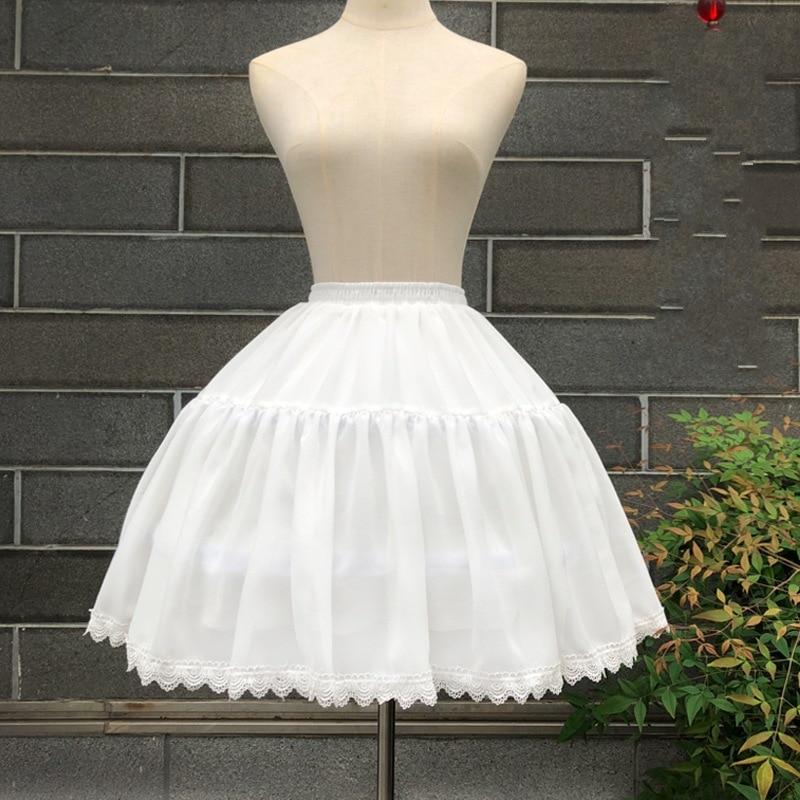 Cosplay Spring And Summer Cool And Refreshing Fishbone Crinoline Lolita Adjustable Violence Slip Dress Soft Girl Skirt