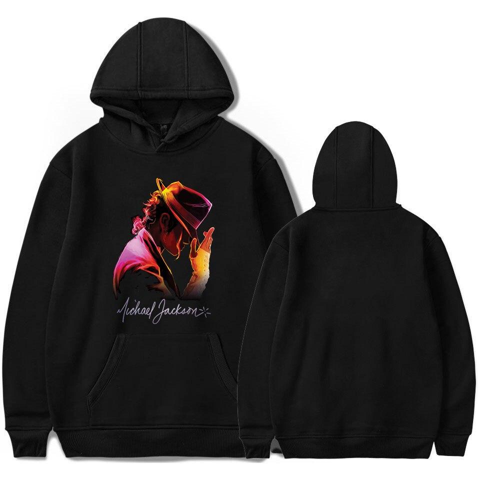 Winter Fleece Harajuku Sweatshirts Men Michael Jackson Hoodies Womens Clothing Red Black Hip Hop Hoodie Male Streetwear Clothes