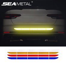 Car Reflective Tape Stickers Exterior Warning Strip Reflect Tape Traceless Protective Car Sticker Trunk Body Auto Accessories