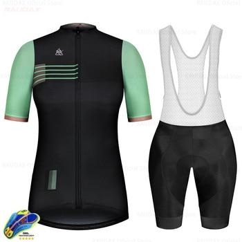 Ropa de ciclismo del equipo profesional Raudax para mujer, Jersey de secado...
