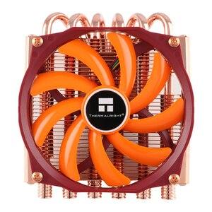 Thermaldireito axp100 dissipador de calor de cobre, 58mm altura tdp 180w refrigeração para intel para amd am4 cpu ventilador refrigerador