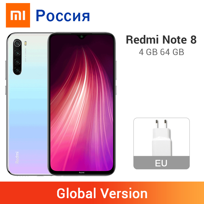 Global Version Xiaomi Redmi Note 8 4GB 64GB Smartphone 48MP Quad Camera Snapdragon 665 Octa Core Mobile Phone 4000mAh Battery(China)