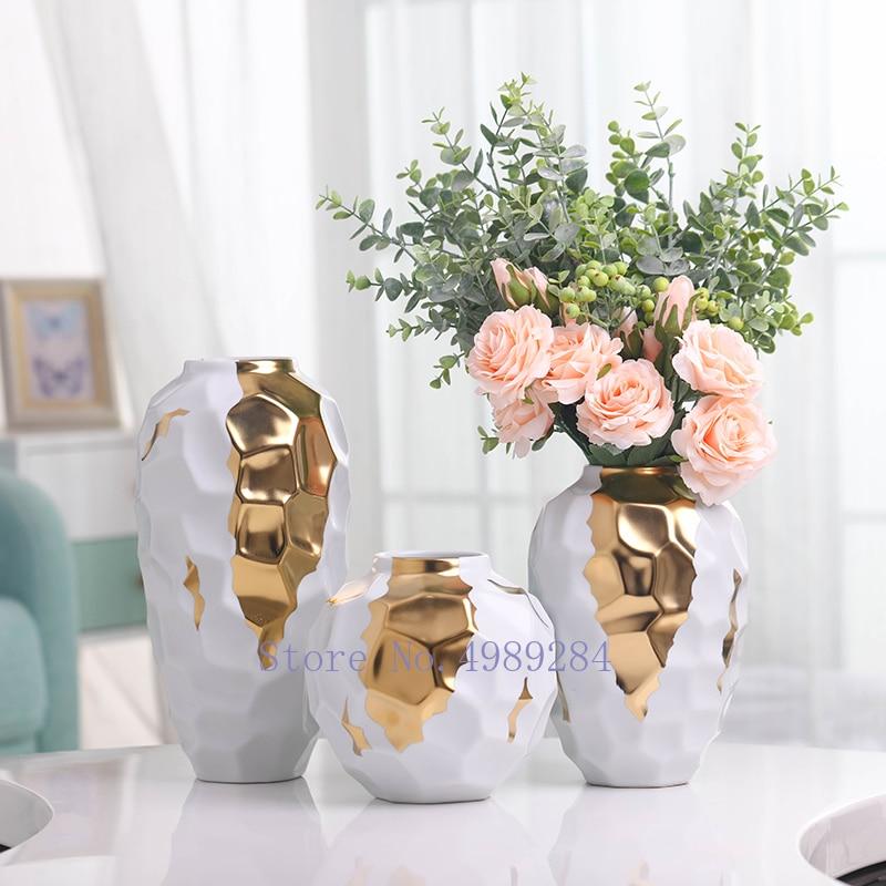 Nordic Ceramic Tabletop Flower Vase Standing Flower Vases Decor Ornaments