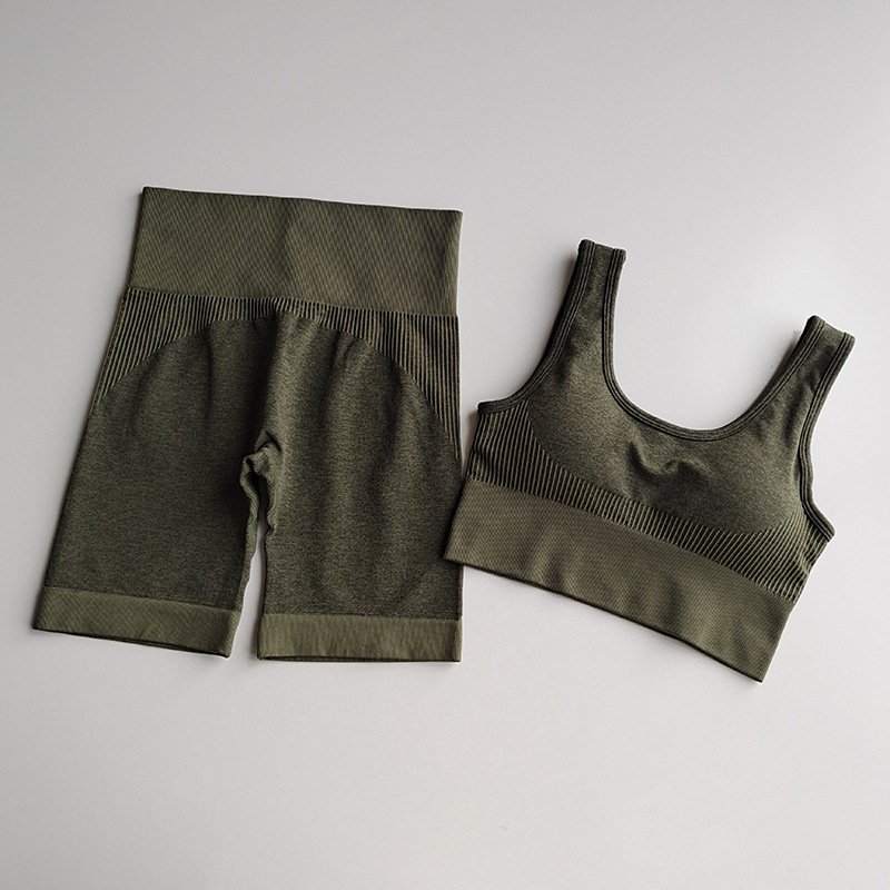 leggings e sutiã superior 2 peça em