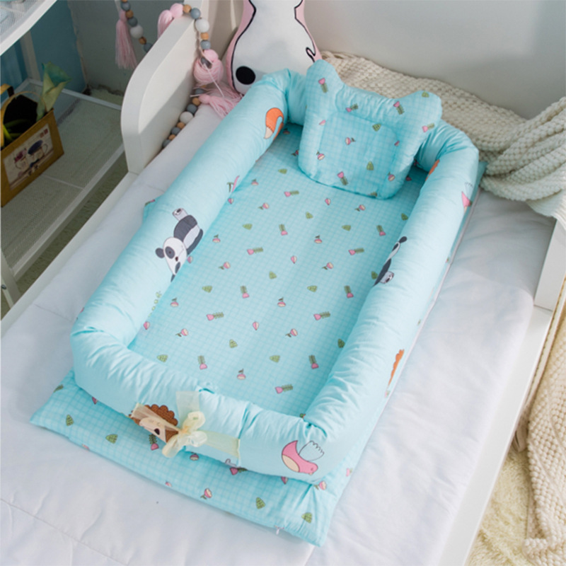 Portable Baby Bionic Bed Cotton Cradle Baby Bassinet Bumper Folding Sleep Nest For Toddler Newborn Play Mat Travel Crib Bed