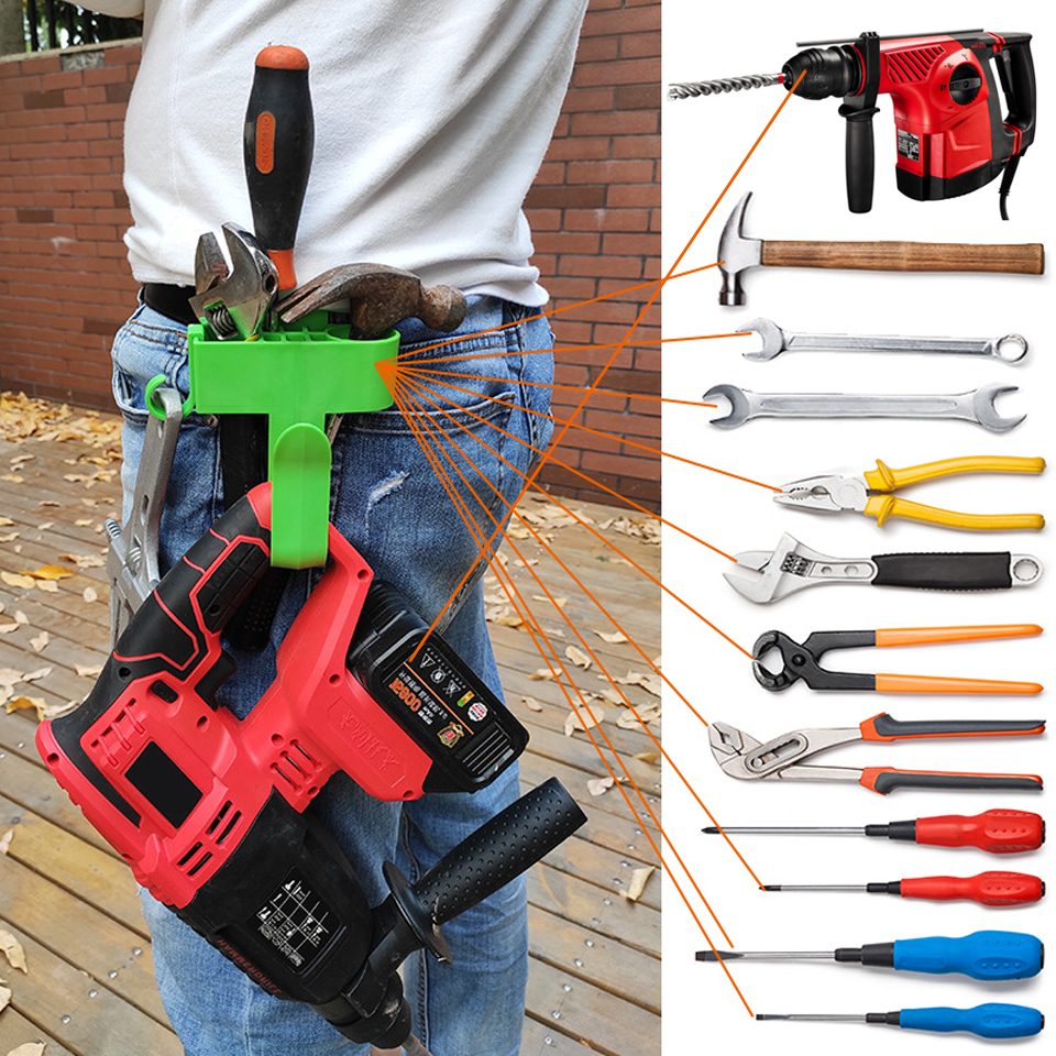 Hardware Tool Bag Electrician Tool Holder Belt Professional Eletric Tools Bag Waist Pocket  Plastic Waist Tools Hook
