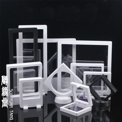 Clear Jewelry Suspended Coins Floating Display Case Stand Holder Box Pretty Shelves Holder For Specimen Display