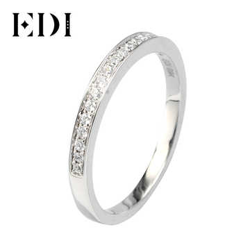 EDI Solid 9K White Gold Ring set For Women Lady Engagement Ring Pave Simulated Diamond Jewelry Matching Wedding Bands(SNR-116) - DISCOUNT ITEM  14% OFF All Category