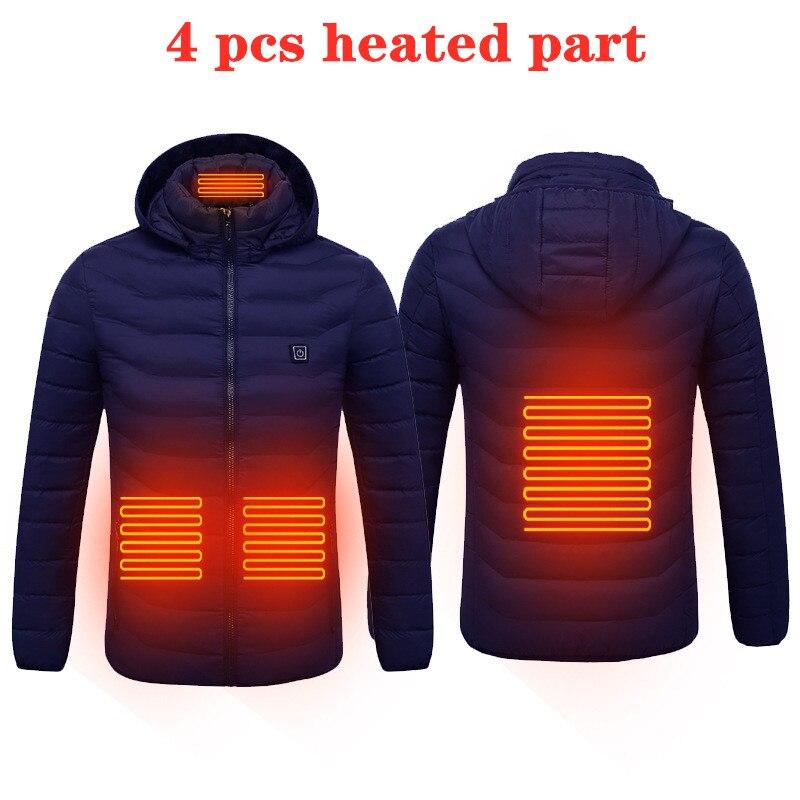 Hot USB Heated Jacket Men Women Winter Heating Windbreaker Hiking Thermal Waterproof Jacket Coat Outdoor Jackets Warm Clothes