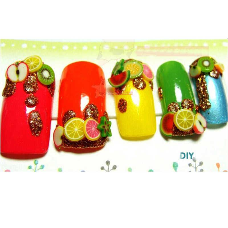 1000 pièces tranches de fruits d'avocat contiennent Addit pour Slime fruits remplissage breloques tout pour Nail Art Slime fournitures accès décor jouet