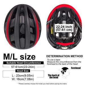 Image 5 - Victgoal Fahrrad Helm LED Moutain Straße USB Aufladbare Licht Radfahren Helm Für Mann Sonnenblende Goggles Männer MTB Bike Kopfbedeckungen
