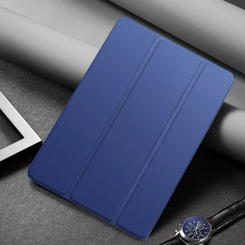 Navy Blue MULTI Tablet Case For Apple iPad 10 2 2020 8th generation Tri fold Flip PU Leather Cover