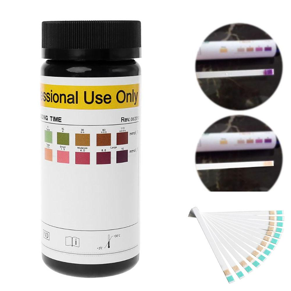 100pcs/set Ketone Strips Home Glucose Ketone Reagent Strip Diet Weight Lose Analysis Keto Strips Healthy Diet Body Tester