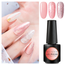 MEET ACROSS Rose Gold UV Gel Nail Polish Glitter Sequins Soak Off UV Gel Varnish Color Nail Gel Polish DIY Nail Art Lacquer все цены