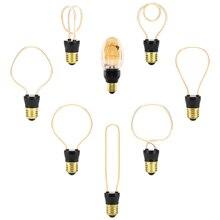 Мягкий Светодиодный светильник Эдисона E27 4 Вт 4,5 Вт 220 В Ретро промышленная декоративная лампа накаливания художественный элегантный ресторанный праздничный светильник s
