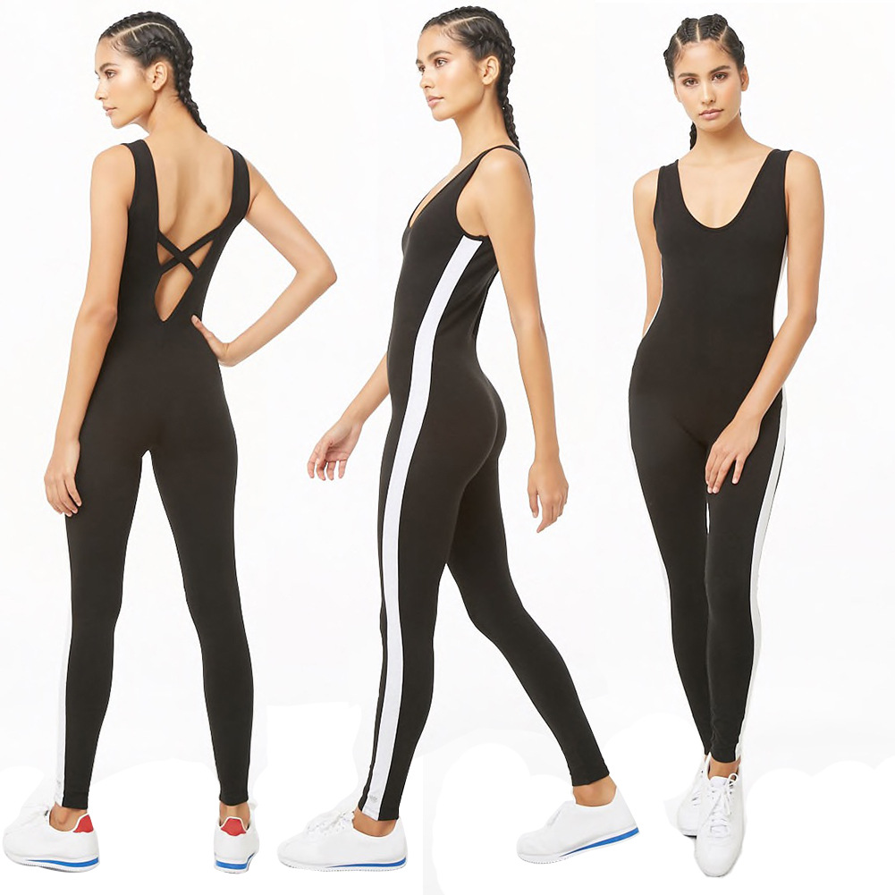 Yoga Suit 2019 Summer New Style One-piece Sports Clothing Women's Western Style Fashion Casual Onesie Wholesale
