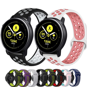 What Strap For Samsung Galaxy Watch 3 45mm band Active 2 40mm 44mm Soft Silicone Two-color Bracelet Band Wriststrap Accessories