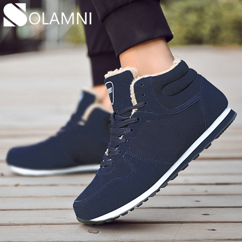 Men Winter Shoes For Women Boots Fashion Warm Plush Snow Boots Mens Nonslip Ankle Boots Big Size Couple Sneakers Botines Hombre