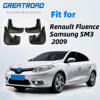 OE Styled Molded Car Mud Flaps For Renault Fluence Samsung SM3 2009 on Mudflaps Splash Guards Flap Mudguards Car Styling|Mudguards| |  -