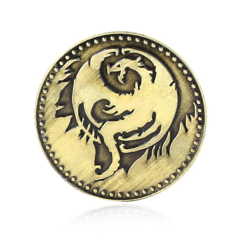 Sıcak oyun Elder Scrolls Online Elseyr anahtarlık erkekler kadınlar için uçan ejderha ar anahtarlık moda aksesuarları takı