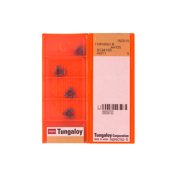 11IR1.0ISO-B AH725 100% Original TUNGALOY carbide insert with the best quality 10pcs/lot free shipping