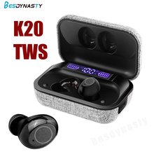 K20 TWS Wireless Earpiece Bluetooth 5.0 Earphones sport Earbuds Headset With Mic For smart Phone Xiaomi Samsung Huawei LG