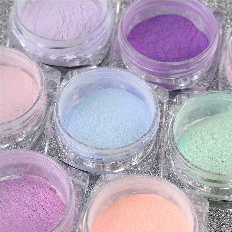 Nail Glitter Aurora Powder Mirror Pearl Chrome Pigment Dust Nail Art Decoration Polishing Mermaid Dip Powder (12)