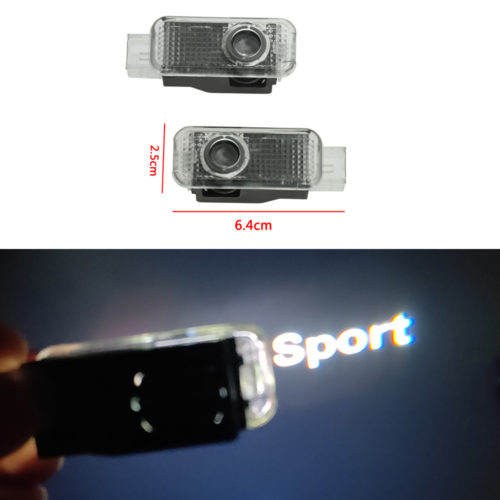 2X Car LED Door Logo Welcome Light Projector Ghost Shadow Lamp For Audi Sport A4 B8 B9 A3 A6 C6 C7 A5 A7 A8 Q3 Q5 Q7