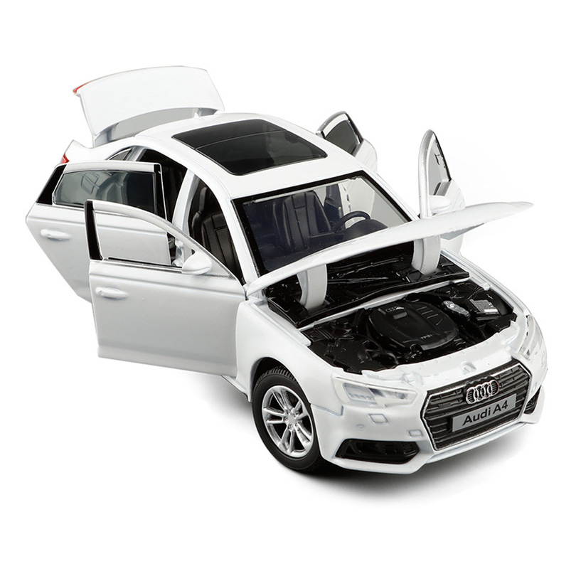 1/32 2017 Style A4 Simulation Toy Vehicles Model Alloy  Children Toys Genuine License Collection Gift Car Kids 6 Open Door