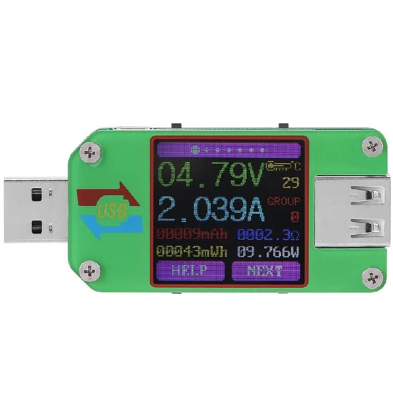UM24C UM24 USB Tester LCD Display Voltage Current Meter Voltmeter Ammeter Battery Charge Measure Cable Impedance Phone Screen Opening Tools     - title=
