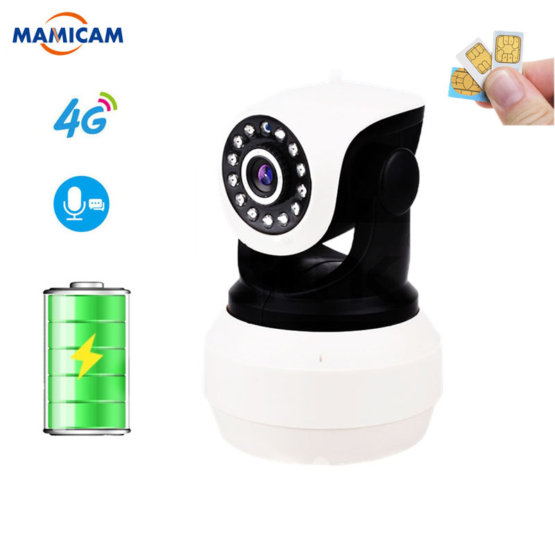 <font><b>3G</b></font> 4G Kamera Eingebaute Batterie GSM <font><b>SIM</b></font> Karte Kamera Drahtlose WIFI Home Security 1080P HD Überwachung Video IP Kamera image