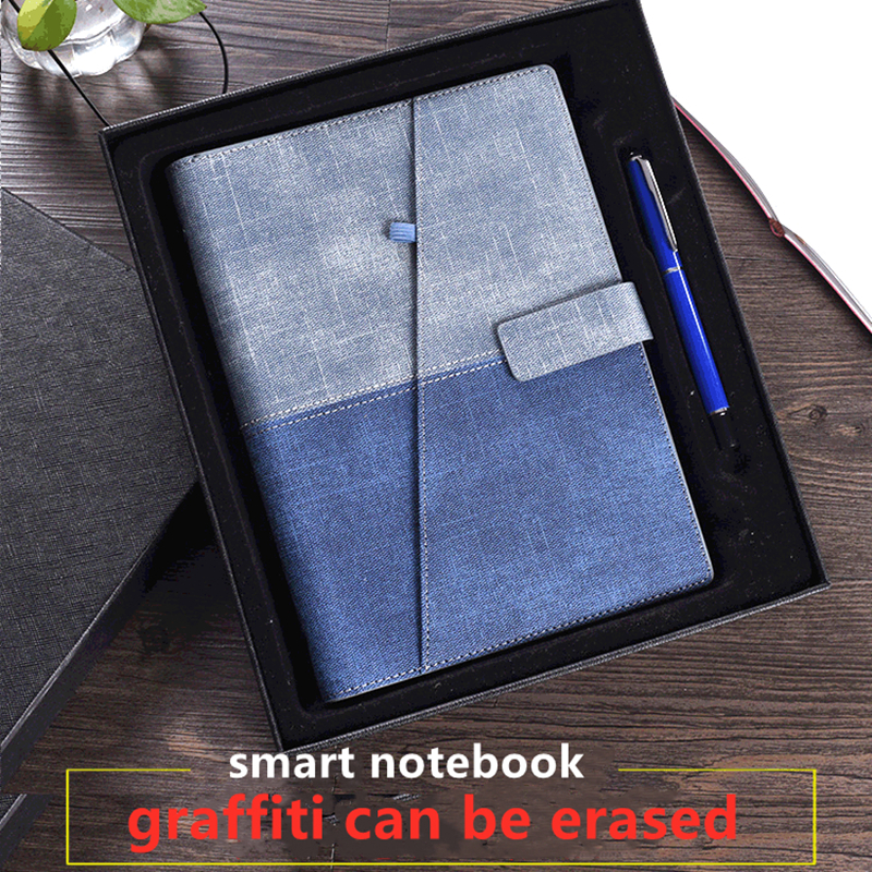 Erasable Notebook A5 Paper Leather Reusable Smart Notebook Cloud Storage Flash Storage Advanced Loose-leaf Diary Notepad