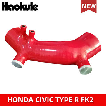 Performance Turbo Silicone Intake Pipe Hose Blue Red Black for HONDA CIVIC TYPE R FK2 2015-2017