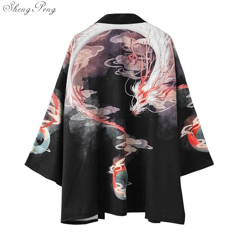 Japanese Kimono Cardigan Men Haori Yukata Male Samurai Costume Clothing Kimono Jacket Mens Kimono Shirt Yukata Haori V1741