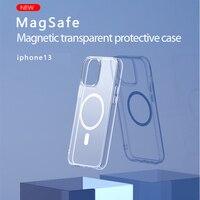 Nuova custodia per telefono trasparente magnetica Apple 13 custodia per telefono IPhone13 custodia protettiva per IPhone 13 Pro Max
