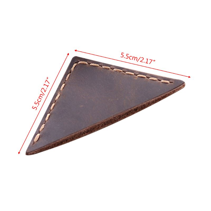 Triangle Bookmark Handcrafted Leather Reading Marking Accessories Corner Page Maker Gift For Book Lover Readers Teacher DXAC
