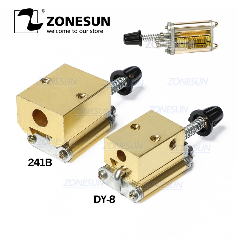 ZONESUN Mould Holder Of Ribbon Printer DY8  Number And Letter 5PCS Thermal Ribbon Dy-8 HP241 Printing Machine Tool Park
