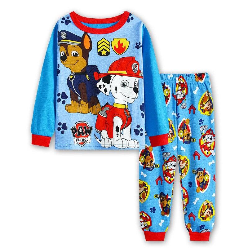 Pat patrouille-pyjama pour enfants | En coton, Original, dessin animé pour enfants, pyjama deux pièces à coupe fine, manches longues, Patrulla Canina, enfants