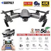 Professione SG907 Drone GPS con 4K HD doppia fotocamera grandangolare anti-vibrazione doppio GPS WIFI FPV RC Quadcopter pieghevole seguimi