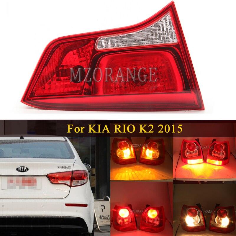 MIZIAUTO Inner Tail Light For KIA RIO K2 2015 Tail lights For car Brake Light Rear Bumper Light Tail Stop Lamp taillights