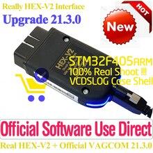 2021NEW Real HEX V2 VAGCOM USB Direct Interface HEX-V2 For VW-AUDi VAG COM Scan Coding Reset Diagnostic OBDII Special Function