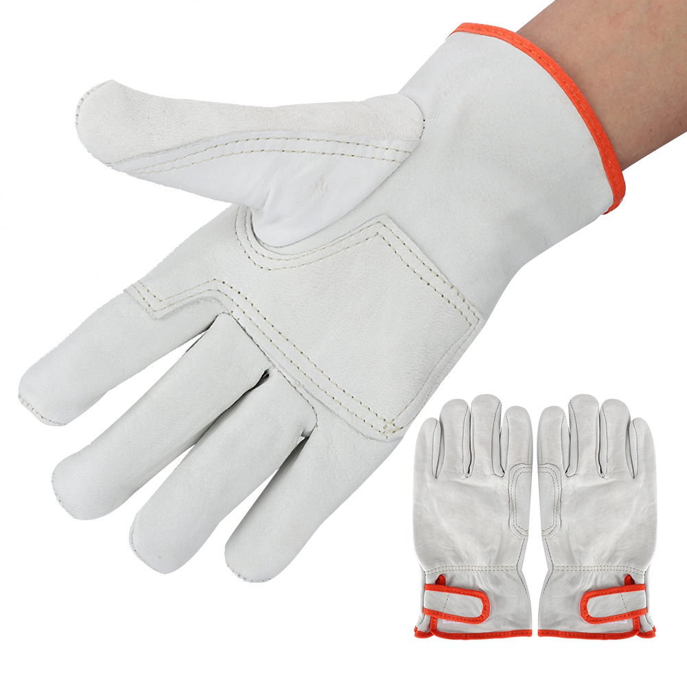 Anti Wear Heat Safety Gloves Anti-Static Flexible Gloves ESD Sheep Leather Welding Gloves Security Accessories