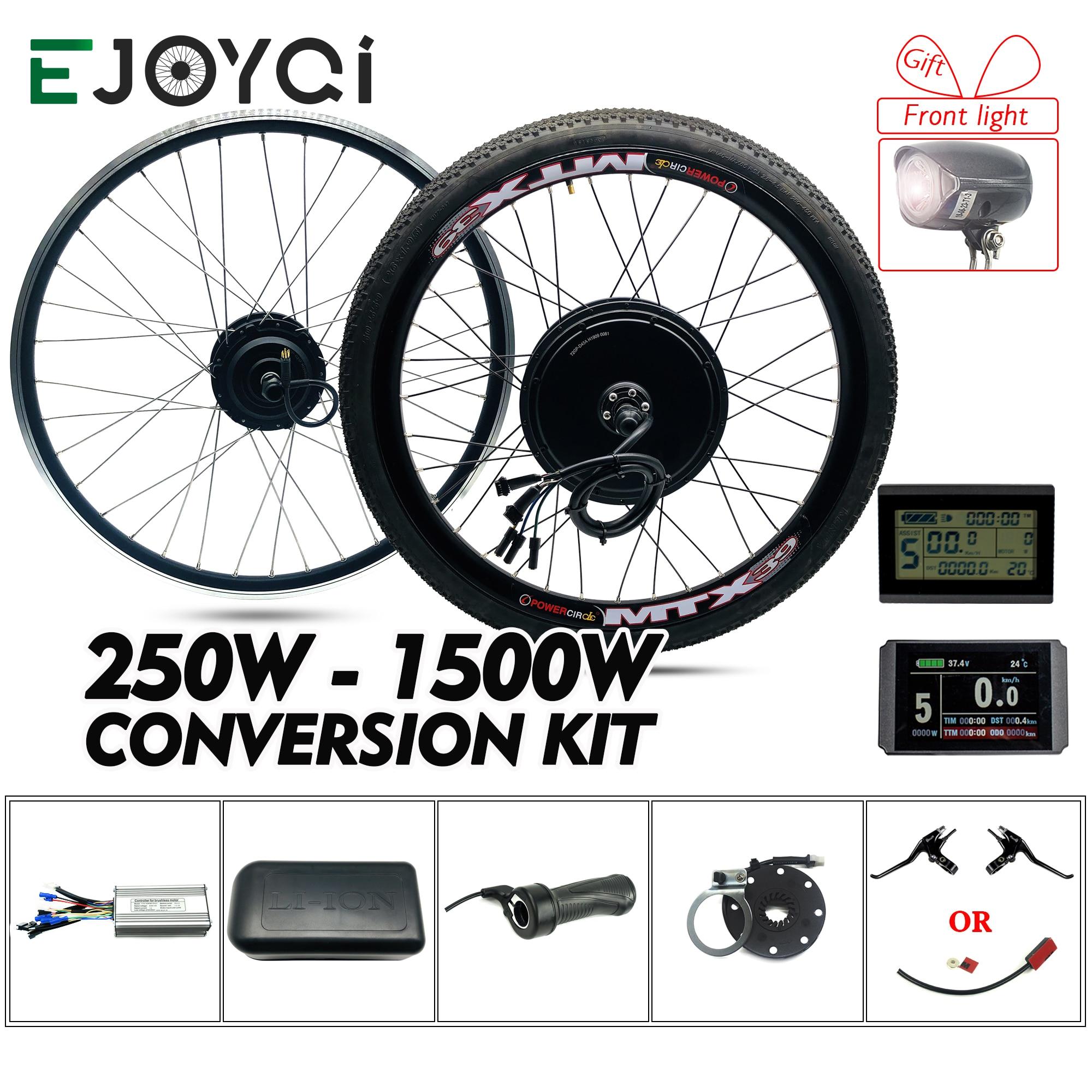 Zestaw eBike 48V 1500W 1000W przód KT LCD3 LCD8H świetlny wyświetlacz Hub koło silnikowe e-bike zestaw do konwersji roweru elektrycznego