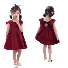 Summer Girls Dresses Cute Cotton 1-6Y Baby Clothing Party Sleeveless Toddler Solid Clothes Kids Dress For Children Costume summer baby girls suspender dress kids cotton soft dresses for girls toddler casual vest children sundresses infant clothes 2 6y